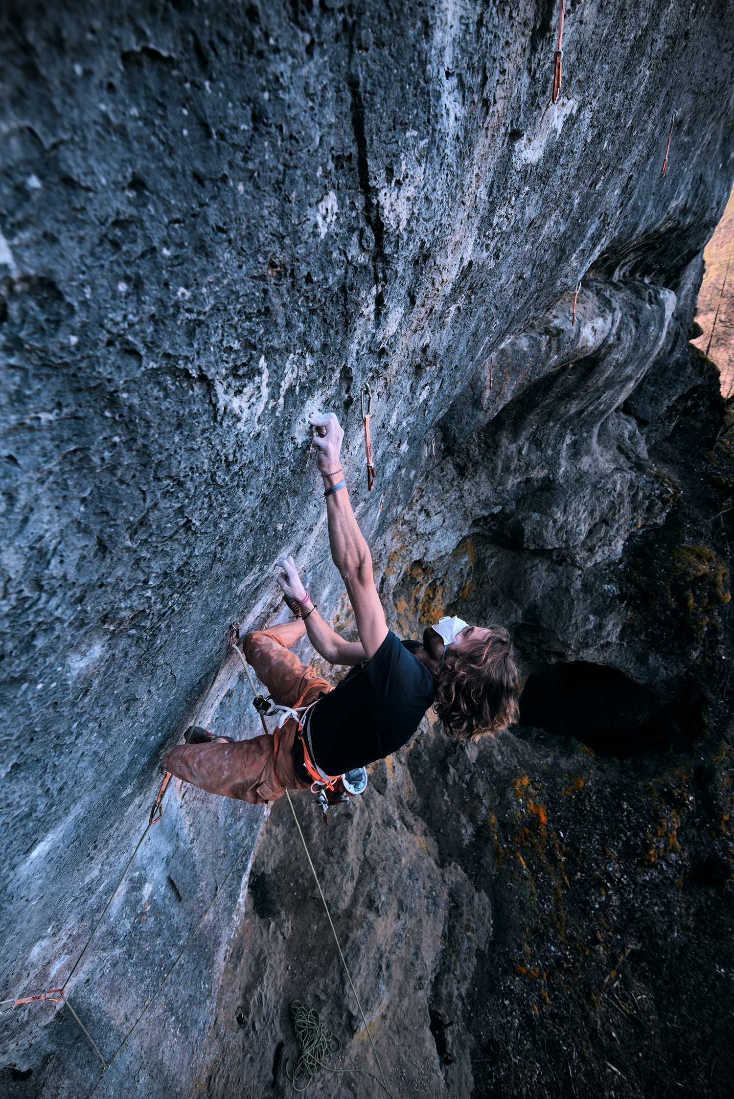 "The almost perfect Corona climbing ""day"" – Panthera (11/9a) redpoint and Corona almost as well"